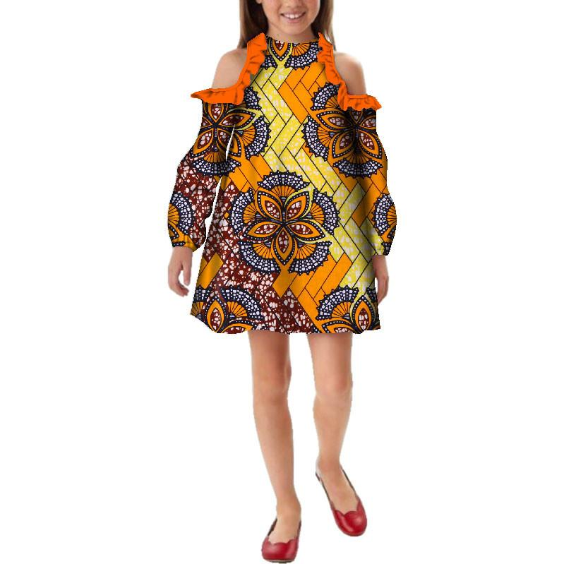 fb3ae1a60c8 New Fashion Africa Children Clothing Dashiki Cute Girls Dresses Bazin  Ruffles African Children Traditional Clothing WYT235 Gowns Designer Dresses  From ...