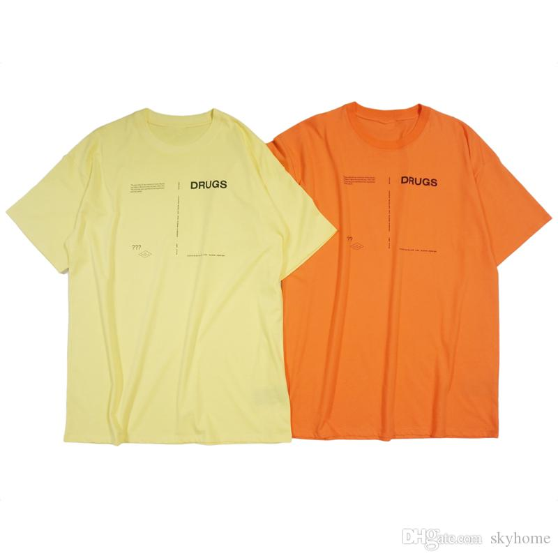 18SS Raf Simons t Shirt Catwalk Show Cloth Men Women Fashion Oversized short Sleeve Turn-down Collar Shirt one size Free Shipping 288