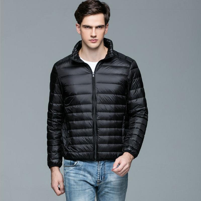 70d531c54 90% White Duck Mens Down Jacket Ultra Light Winter Warm Puffer Lightweight  Down Coat Men Stand Collar Ultralight Coats Male Thin