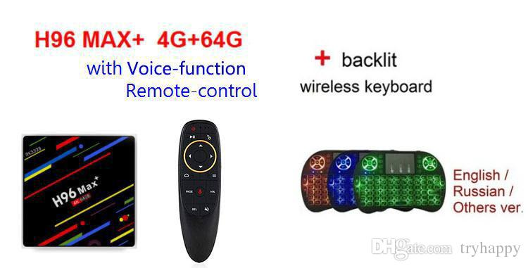 H96 Max Android TV Box Android 9 0 2 4G 5G WiFi 4G 64G Voice control RK3328  Mali-450 GPU Iptv 4K box