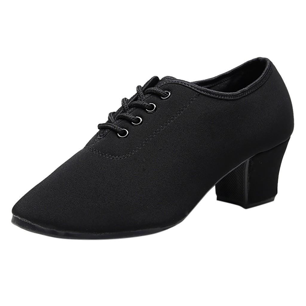 76ca41123ef Dress Shoes New Retro High Heel Women Dance Soft Outsole Woman Practice  Modern Dance Jazz Sneaker Suede Pointed Toe