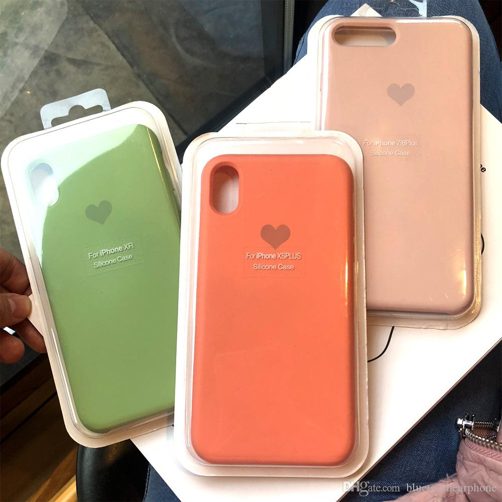 39cd4fed50b Liquid Silicone Case Gel Rubber Shockproof Cover Case Drop Protection for  Apple iPhone 7/iPhone 6 6S 8 Plus X XR XS MAX