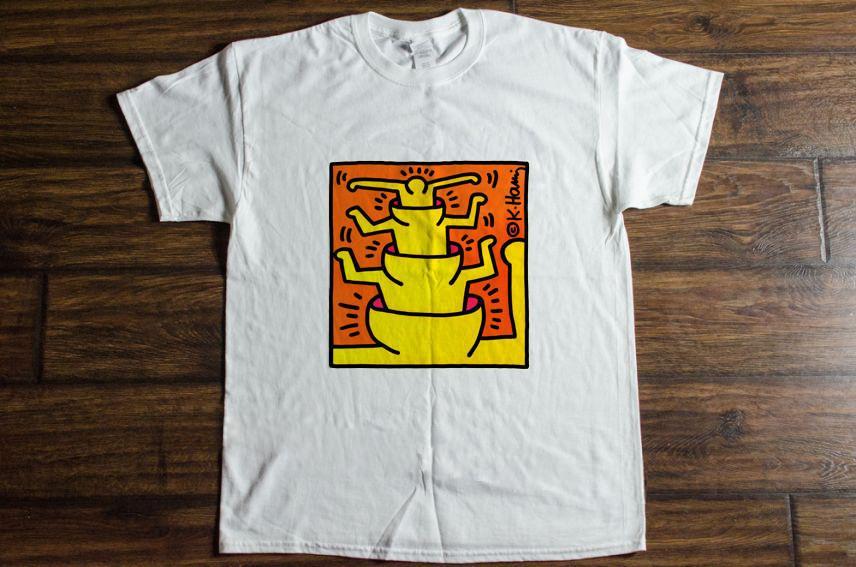 59c258eb5 Vintage Keith Haring Guggenheim Museum Pop Art Pop T-Shirt ...