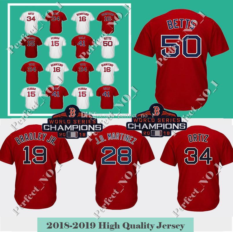 Men s Boston 50 Mookie Betts  34 19 Jackie Bradley Jr. Jersey 2018 ... 2af59f41d