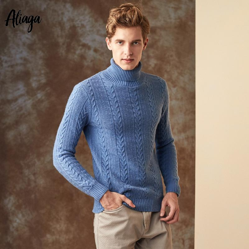 de3b8ae83772a2 2019 Handmade 100 Cashmere Sweaters Men Brand New Luxury Rib Knitting  Turtleneck Sweaters Winter Warm Clothing 2018 Pullovers Jumpers From  Ingridea, ...