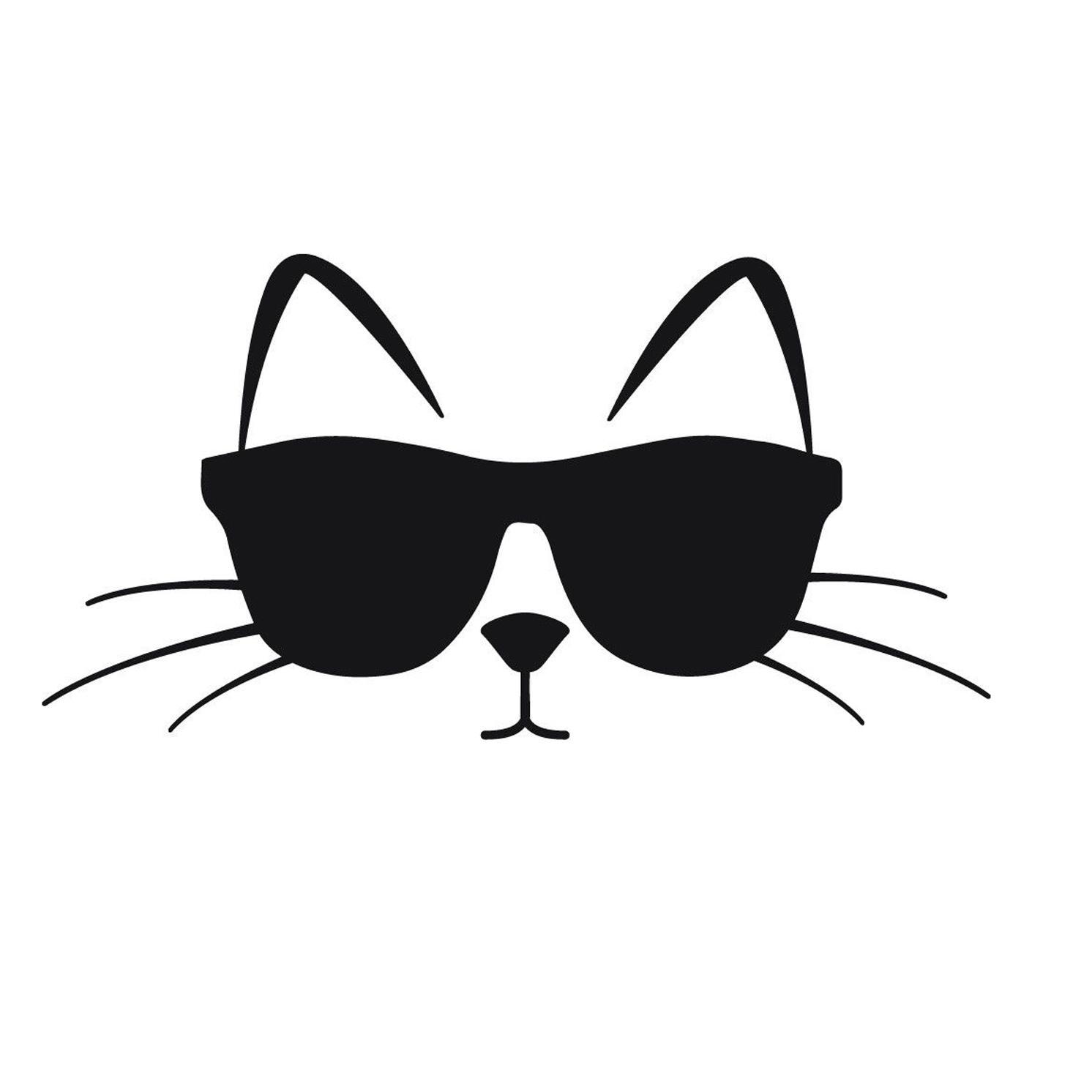 La De Compre Fresco Calcomanía Gafas Sol Ventana Gato Con TlKF35u1Jc