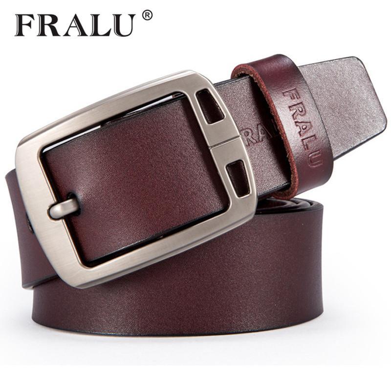 7452f1e51e1 ... Para Hombre Cinturón De Cuero Genuino Cinturones De Diseño Hombres  Correa De Lujo Cinturones Masculinos Para Hombres Vintage Pin Hebilla Para  Jeans A ...