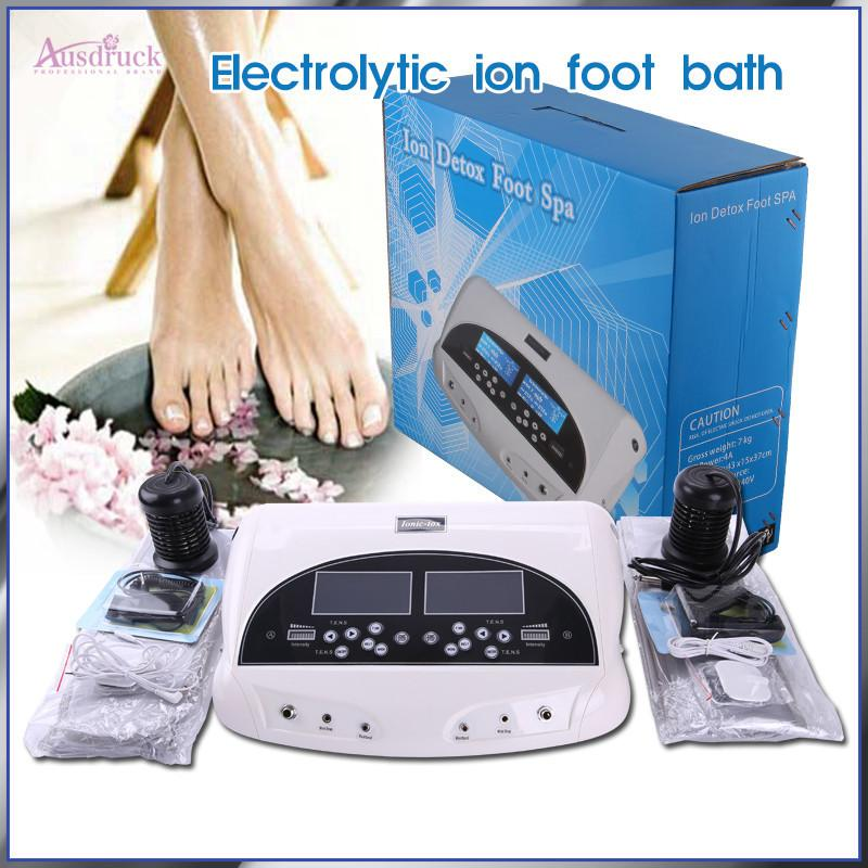 EU tax free High Tech Dual electronic lon Cleanse Detox Foot Spa High Ionic Cleaner Detox health care Machine massage Spa