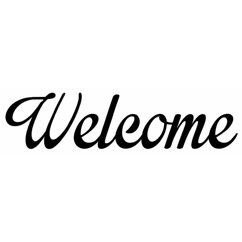 2019 hotmeini wholesale length 18cm welcome vinyl decal funny