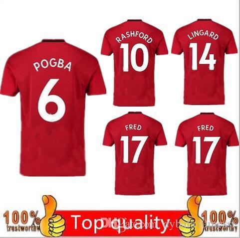 buy popular 63538 e45cf POGBA Home red away soccer Jersey 19 20 Home United ALEXIS MATA LUKAKU FRED  RASHFORD Matic shirt red 2019 2020 shirt