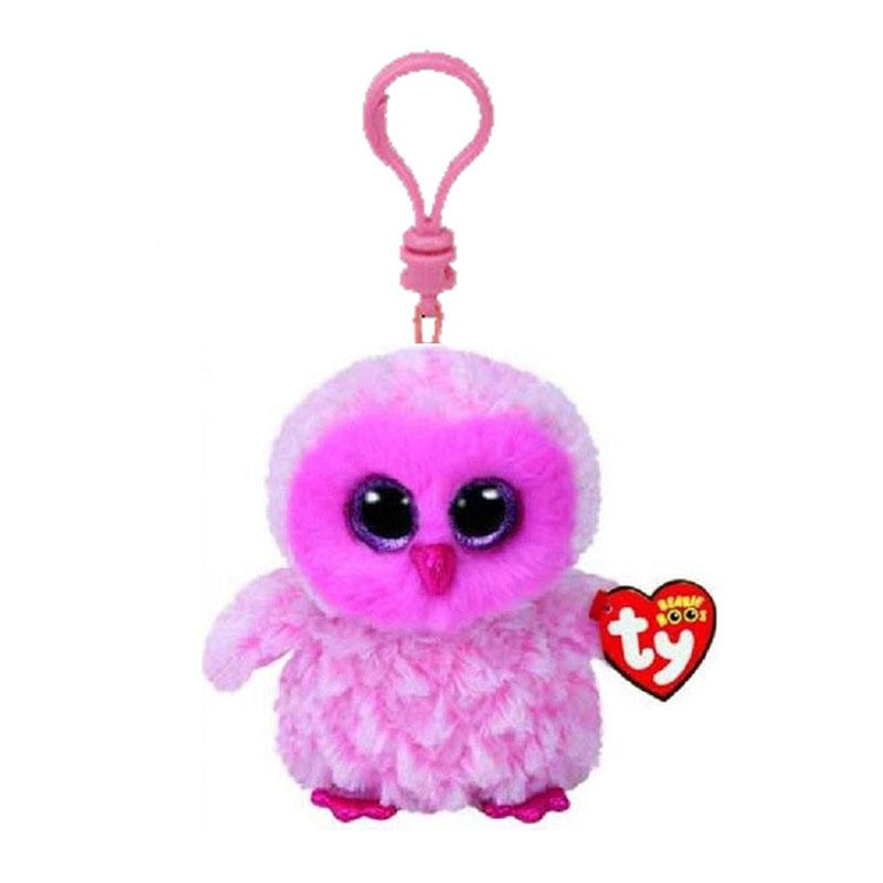 4b9f6b96363 2019 Ty Beanie Boos Twiggy The Pink Owl Small Pendant Plush Toy Clip Stuffed  Collection Soft Doll 10cm From Babymom