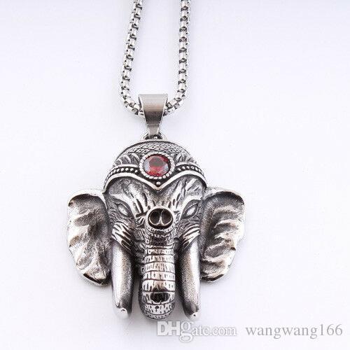 9ae976b01556 Compre Cabeza De Elefante De Acero Inoxidable 316L Para Hombre ...