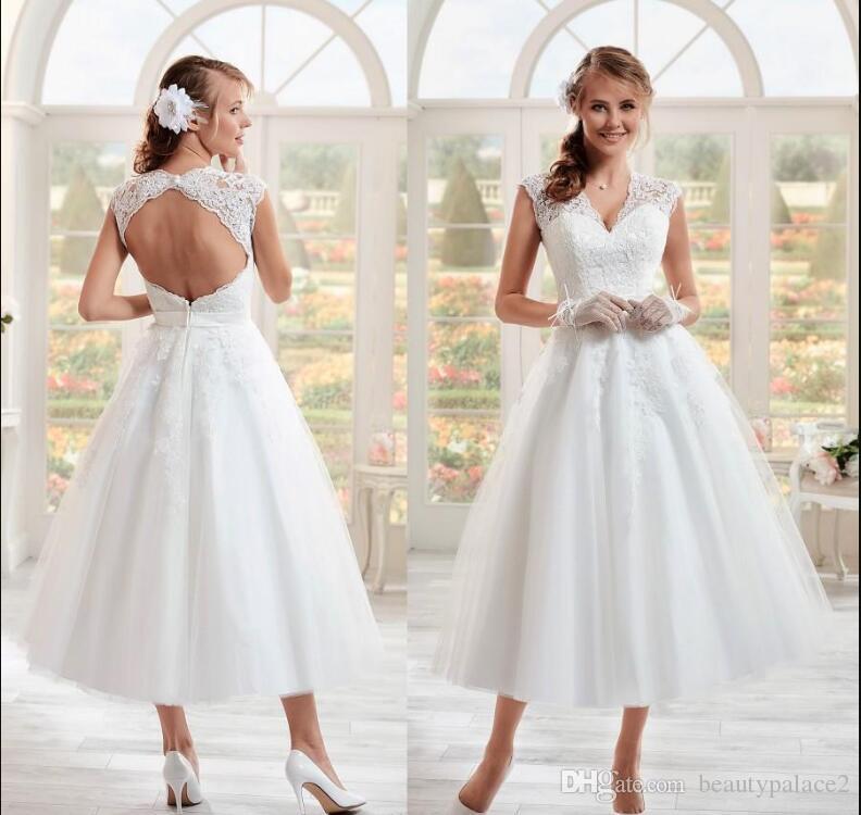 compre vestidos de novia cortos de los años 50 antiguos 2019 nuevo