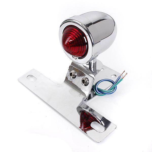 Intermitentes Luz de trasera freno LED Negro Universal Luces Moto intermitentes Cromo portátil Lámpara doCBeWrx