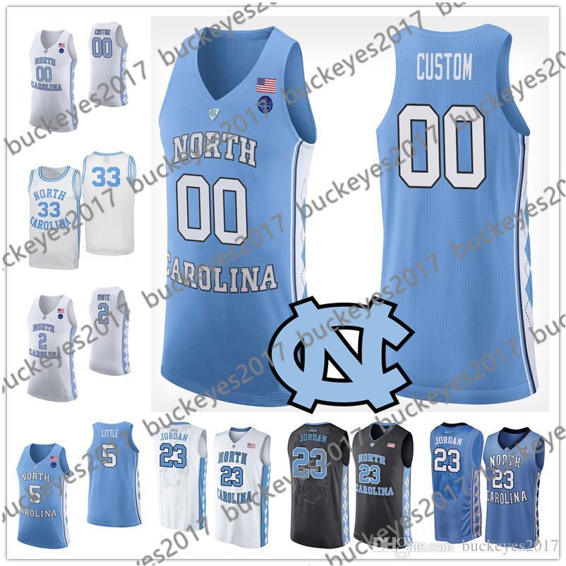 f79db1500 2019 Custom NCAA Basketball North Carolina Tar Heels Blue Black White  Stitched Any Name Number 2 Coby 13 Cameron Johnson 32 Luke Maye Jerseys  From ...
