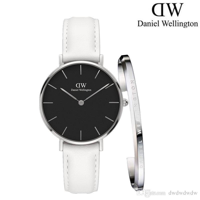 97c6453a0a21fd Female Watch Daniel New 32MM White Stainless Steel Fashion Quartz Watch  Zegarek Elegant Girl Watch And D W Jewelry Bracelet Wholesale Wrist Watches  Online ...