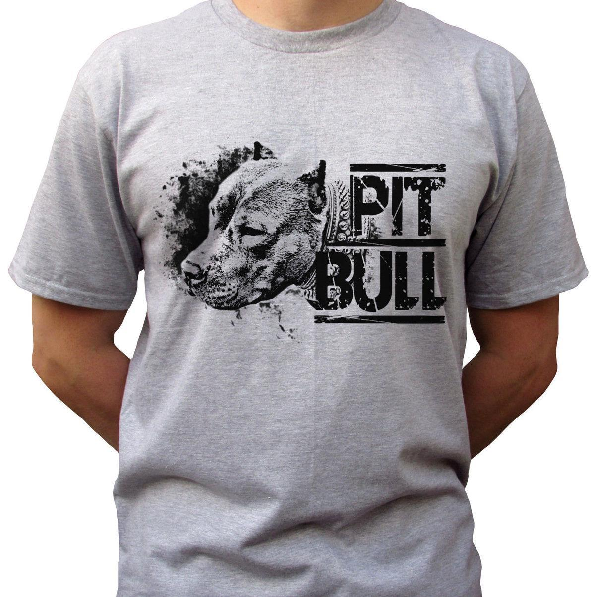 8d7451411 Pitbull Grey T Shirt Top Pit Bull Tee Dog Design Mens Sizes Printed T Shirt  Funny T Shirts For Guys From Jie034, $14.67| DHgate.Com