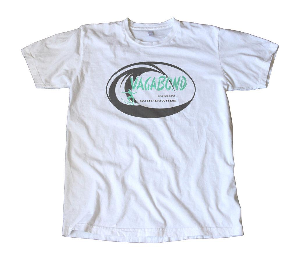 Vintage Vagabond Surfboards Decal T-Shirt - Surfing Funny free shipping Unisex Tshirt top