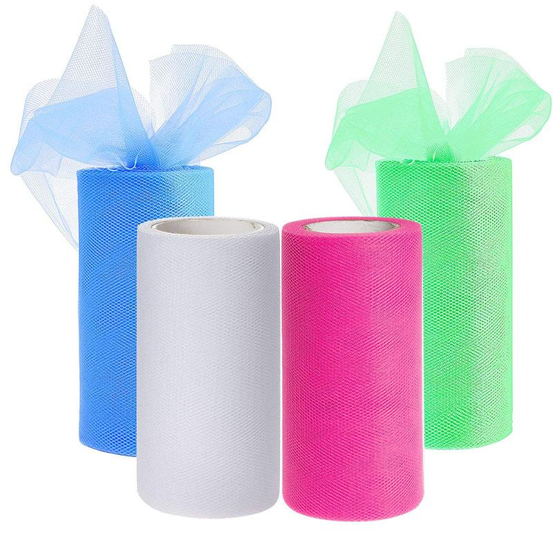 25 Yards Tulle Roll Chair Table Skirt Photography Wedding Decoration Birthday Party Decor Backdrop DIY Supplies Gift Wrapping