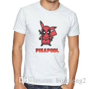 Pikapool T-Shirt - Mens/Womens Funny T-Shirt - Deadpool Men Pikachu