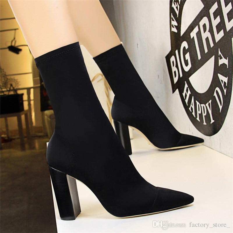 e74beef5ebd62 luxus schuhe frauen designer schuhe frau high heels stiefel frauen mittlere  wadenstiefel für frauen socken stiefel schuhe zapatos de mujer botas ...