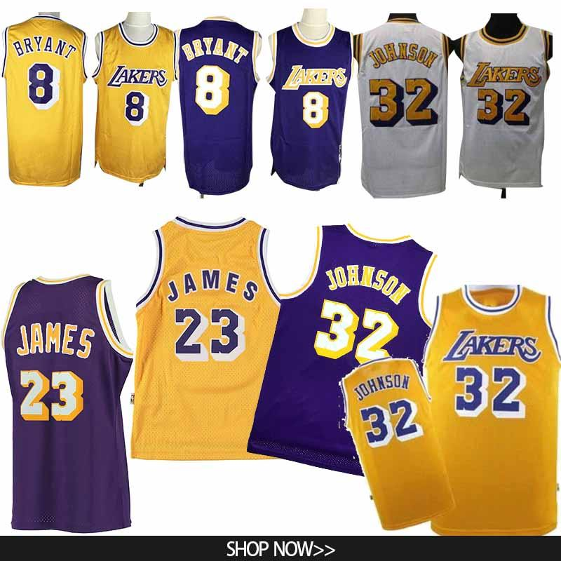best cheap 9f945 136e4 23 LeBron James jersey 8 Bryant Basketball Jerseys 32 Johnson 0 Kuzma 24  Kobe 2019 Los Angeles men