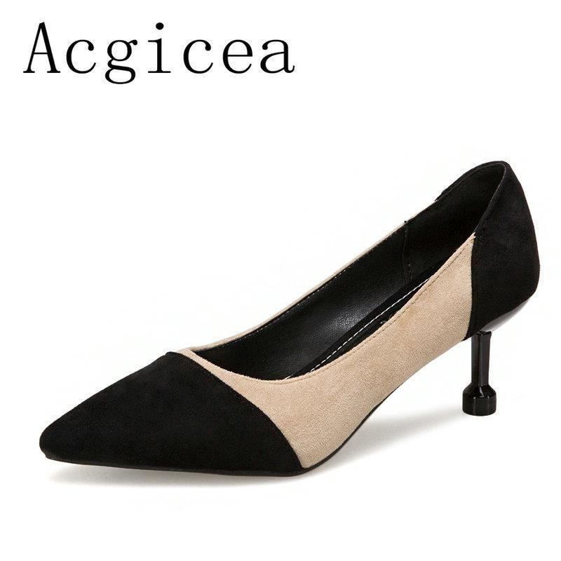 d4f23084a6 Dress Shoes 2019 New Summer Classic Pointed Toe Women 's Pumps White Red  Black Woman Summer Female Comfortable Office Lady Footwear