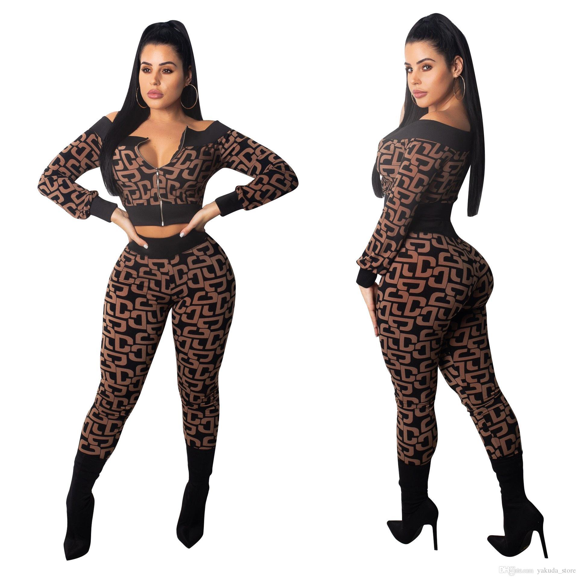 fb395969ae5aa 2019 2019 Plus Size Set Sweatsuit Autumn Outfits Jacket Top+Pants Sweat  Suits Two Piece Matching Sets Tracksuit Women From Yakuda store