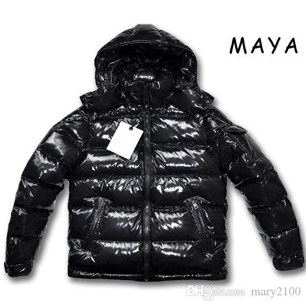c89d8d3e7 High quality fashion New Men Casual Down Jacket MAYA Down Coats Mens  Outdoor Warm Feather dress Man Winter Coat outwear Jackets Parkas