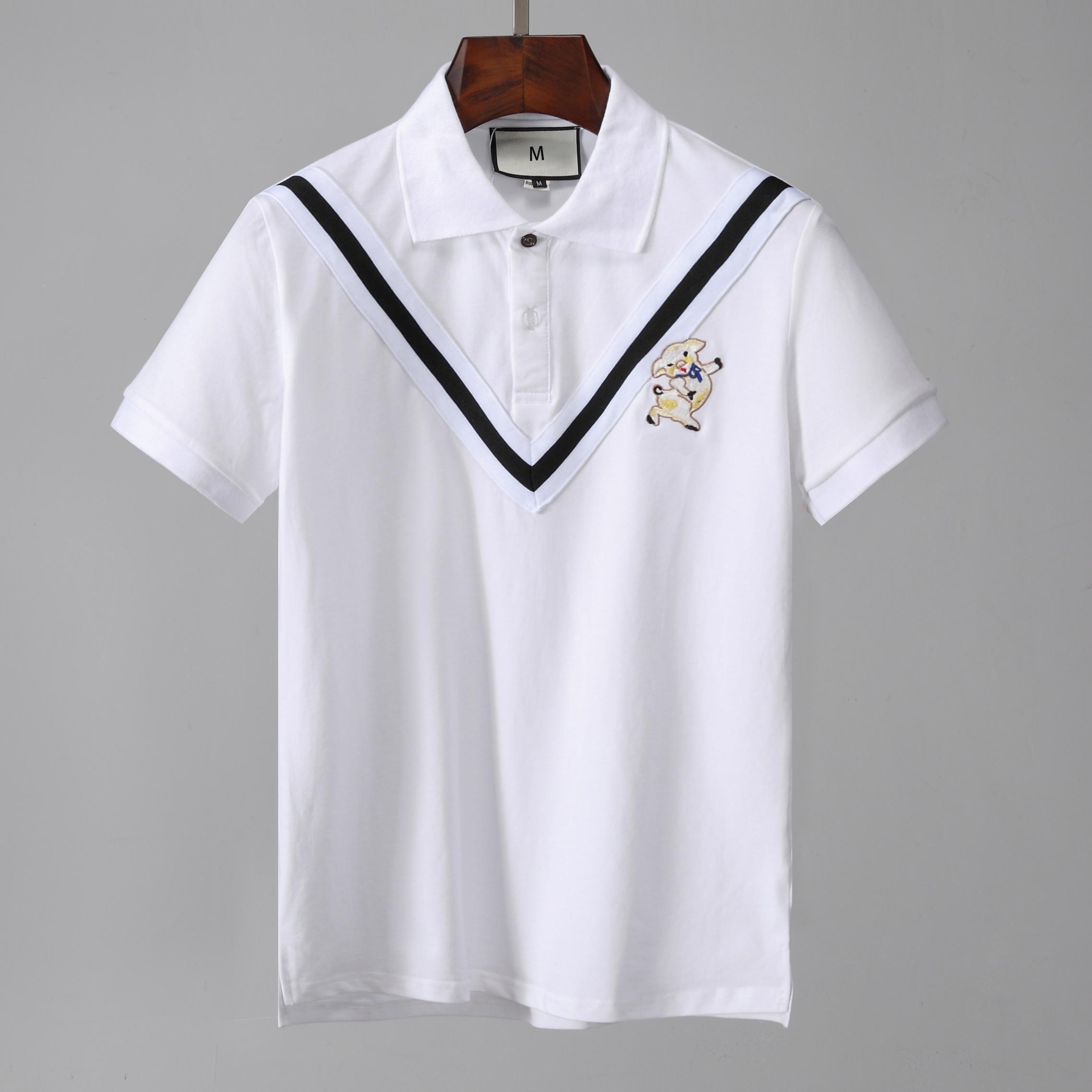 New Designer Tshirt Men Polos 2019 Poloshirt Short Sleeve Blouse