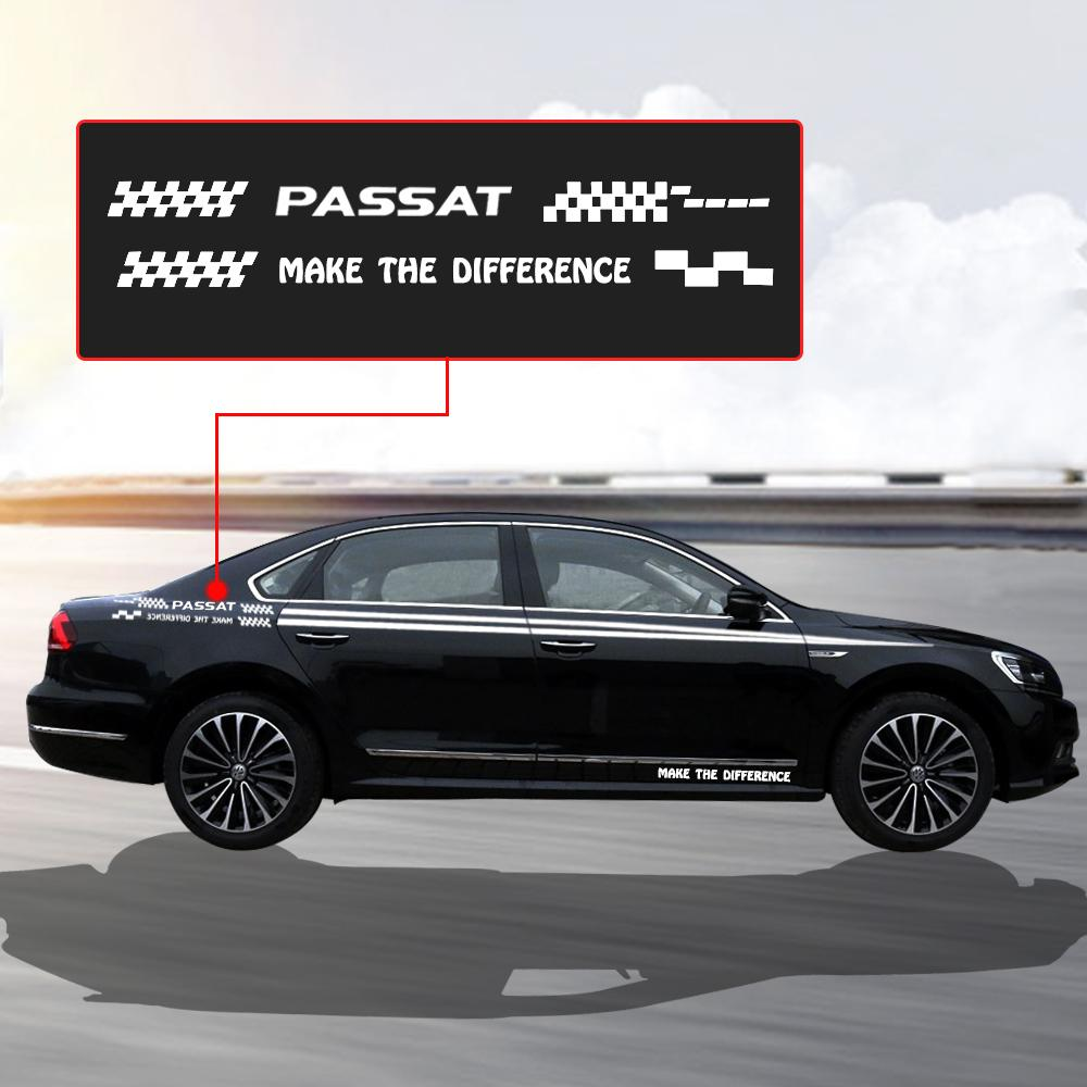Car stickers side body decal graphic and words self adhesive diy decoration sticker for volkswagen passat online with 28 35 set on jinggongcars store
