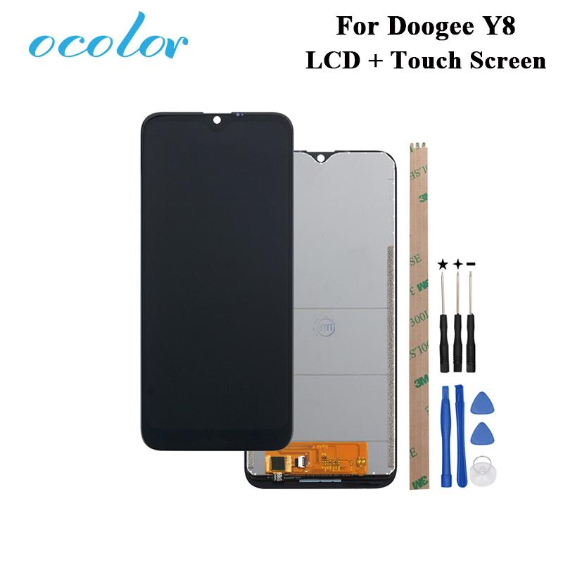 ocolor For Doogee Y8 LCD Display and Touch Screen Digitizer Assembly  Replacement With Tools Adhesive For Doogee Y8 Phone