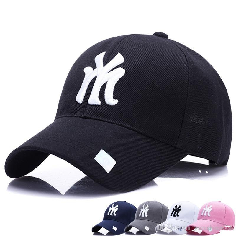 d513cbdaf05dd 2019 2018 New Unisex 100% Cotton Outdoor Baseball Cap NY Embroidery Snapback  Fashion Sports Hats For Men   Women Caps  46964 From Gymshoes666