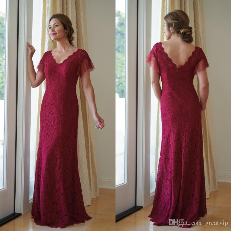 00f15e73261 Jasmine Fuchsia Mother Of The Bride Dresses Lace Tulle Short Sleeve Floor  Length Plus Size Cheap Wedding Mothers Formal Evening Gowns Tea Length  Mother Of ...