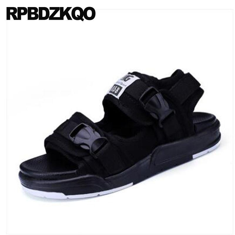 Strap Sneakers Designer Open Toe Men Waterproof Shoes Casual Fashion Black Mens Sandals 2018 Summer Outdoor Platform Beach Water