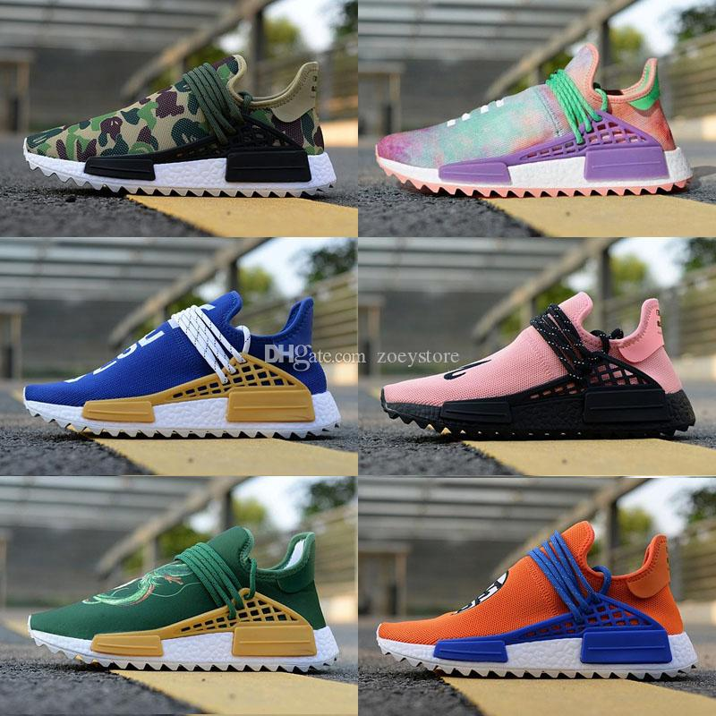 super popular a7d64 51c33 Großhandel Human Race Trail Outdoor Schuhe Herren Damen Pharrell Williams  HU Läufer Gelb Schwarz Weiß Rot Grün Blau Sport Laufschuh Von Zoeystore, ...