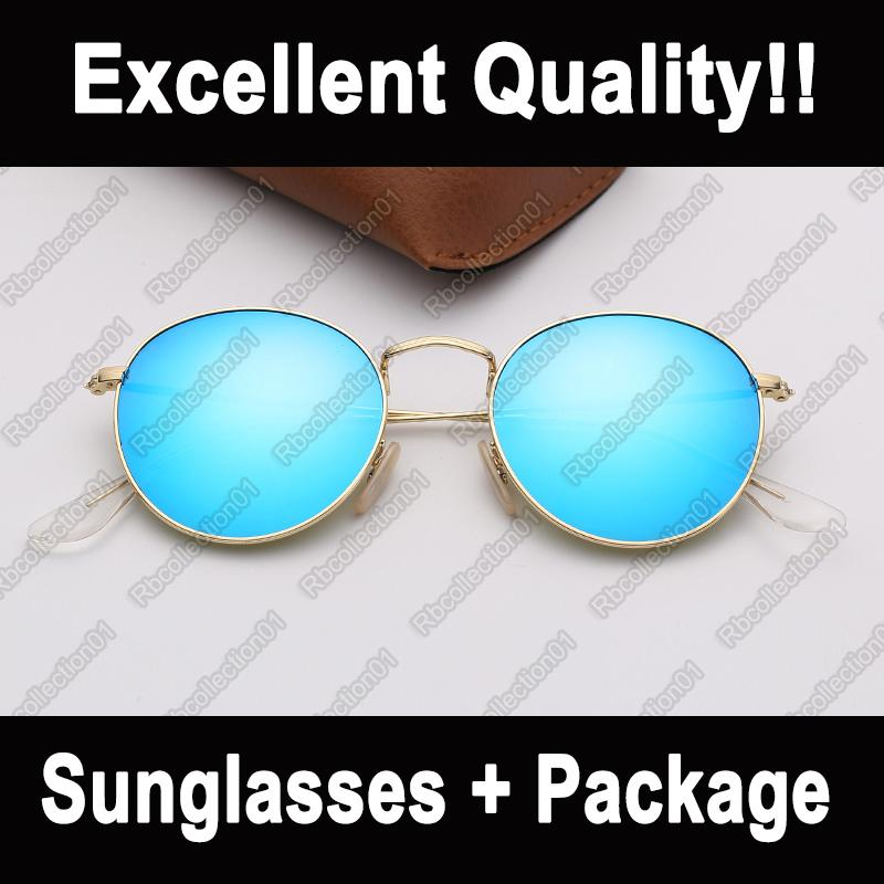 Fashion ray sunglasses round metal brand sunglasses mens woman sun glasses des lunettes de soleilwith UV400 protection sun glasses
