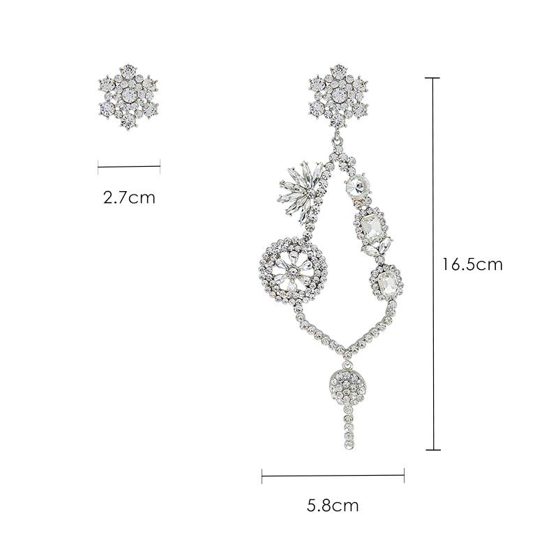 Earrings Tassel Long Asymmetrical Earrings Artificial Rhinestones Cold Wind Earrings Jewelry J190721