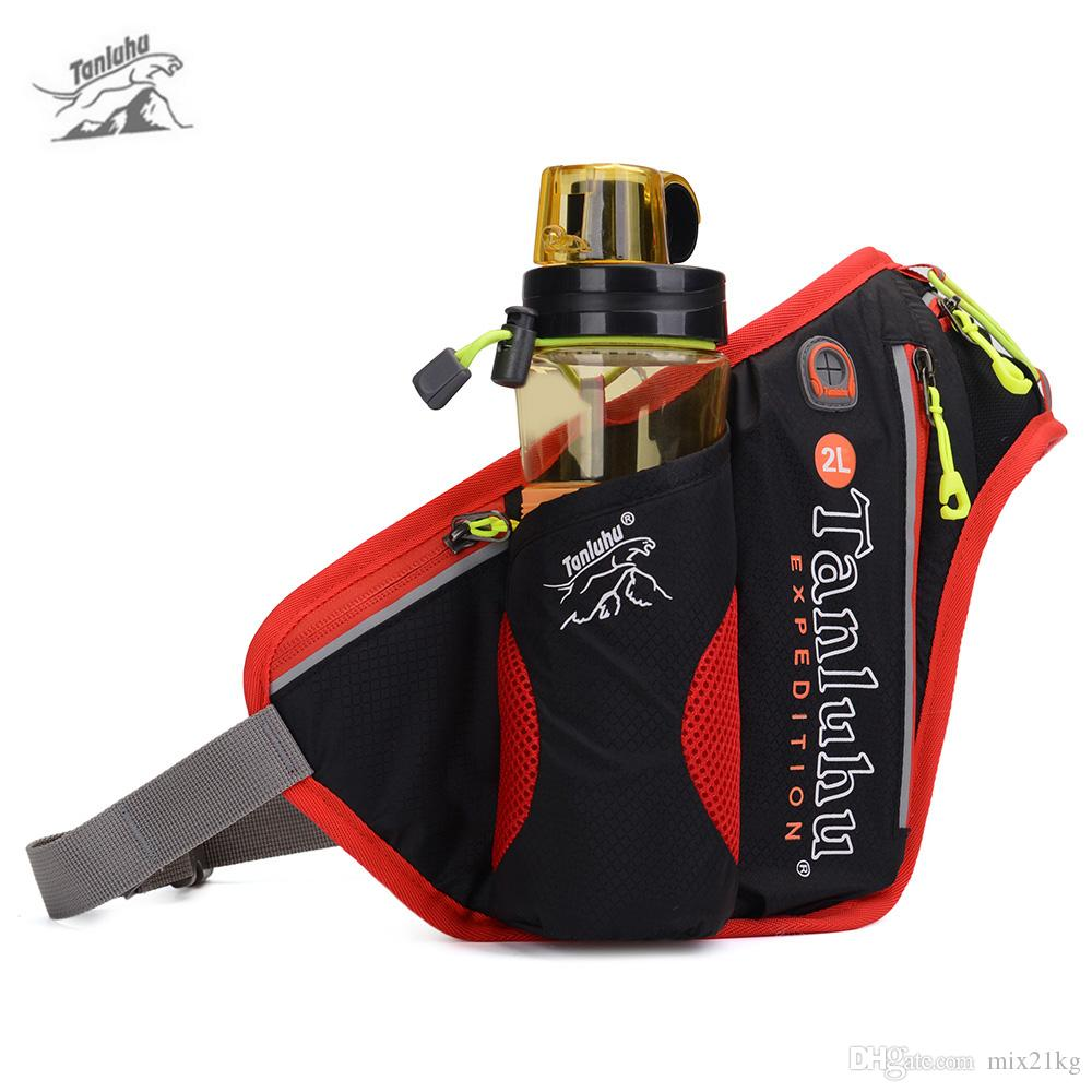 68c913825e33 Tanluhu 371 2L Outdoor Trail Running Belt Bag Waist Backpack Water Bottle  Holder Waterproof Marathon Jogging Belt Bag Pouch