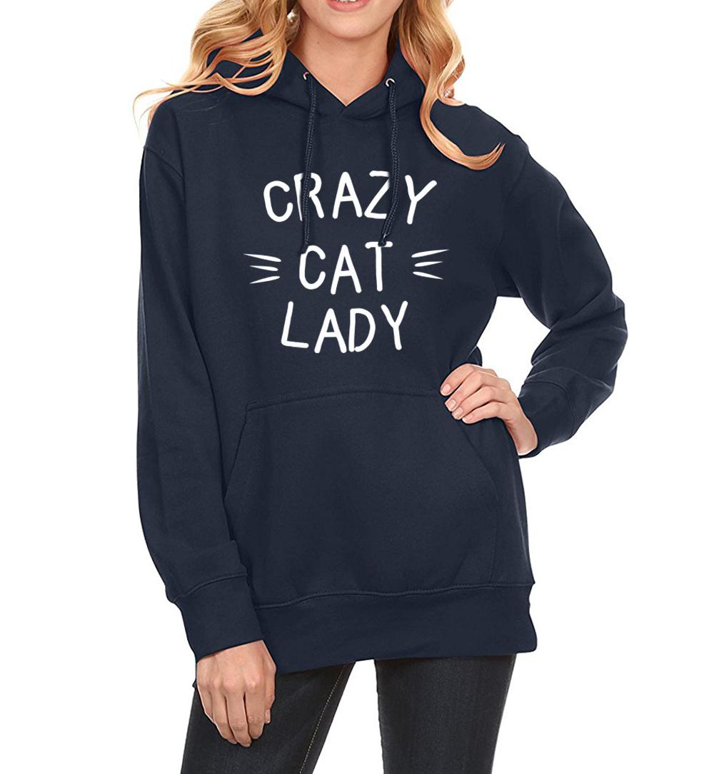 info for a3c89 4e4e7 Felpa per donna 2019 New Hoody Winter Felpe Crazy Cat Lady Print Fashion  Streetwear Felpe con cappuccio da donna Kpop Clothes Hot