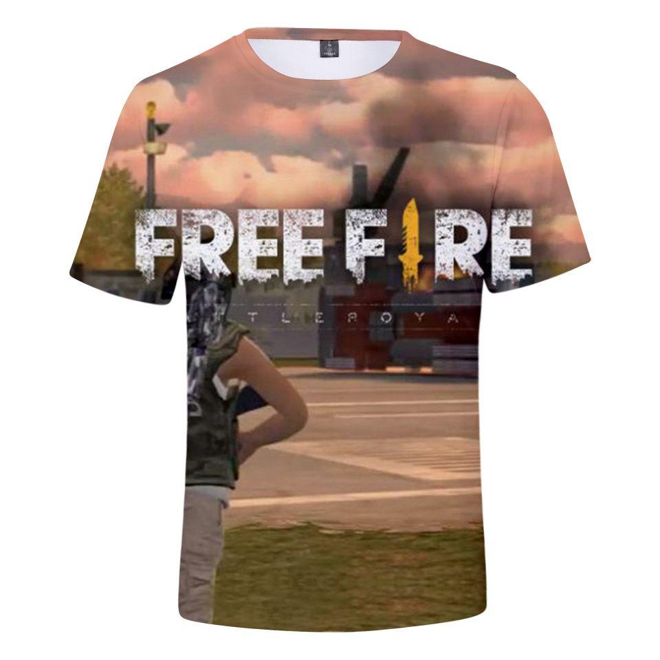 c653eee4b6 Mens Women Tshirts 3D Print FREE FIRE Clothing Tops Summer Short Sleeve  T-Shirts Teenagers Casual Loose Tshirts 2XS-4XL Lovers Clothing