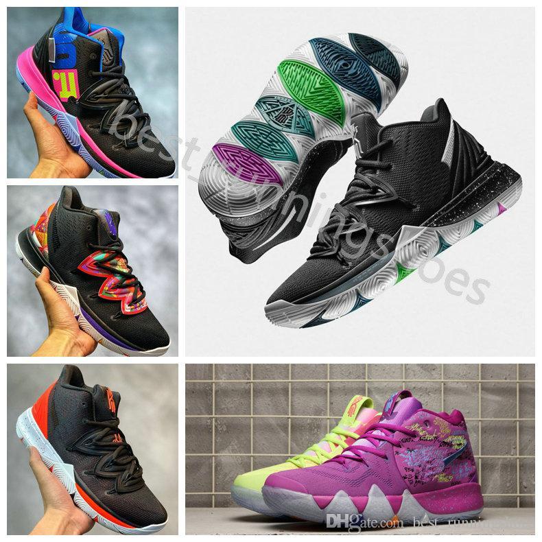 newest 38aa6 f39dd 2019 Alta Calidad Kyrie5 V Kyrie Irving Five Taco Negro Kyrie 5 Magic  Zapatos De Baloncesto Para Hombre 4 Entrenadores 5s Zapatillas De Deporte  Retro Tamaño ...