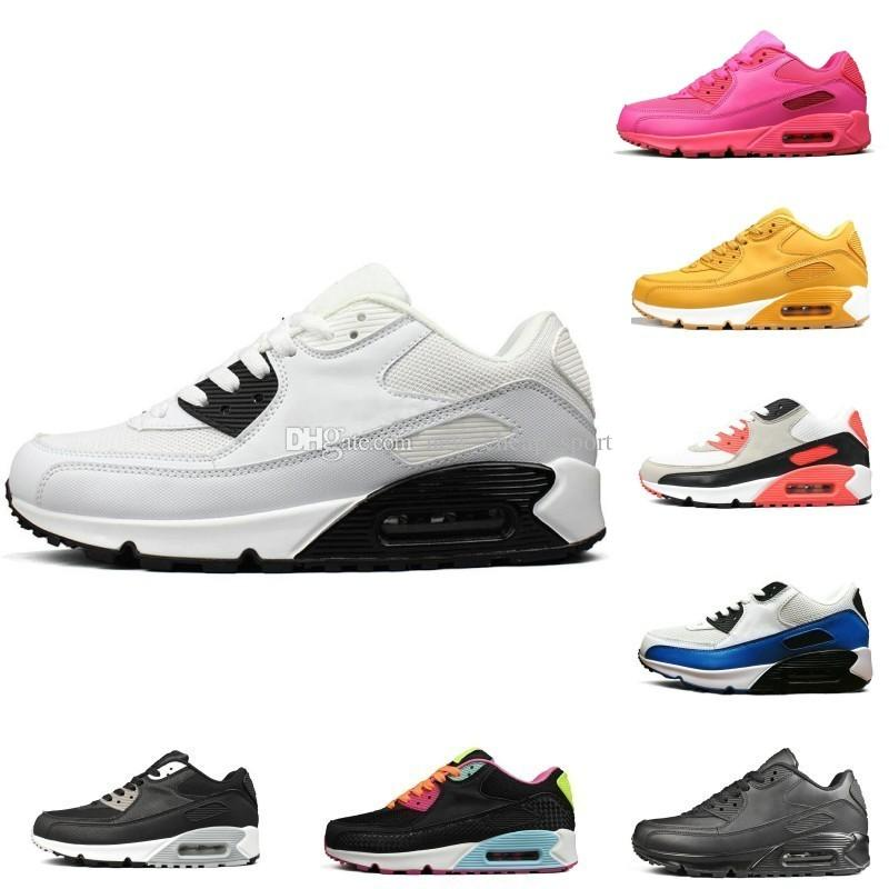 quality design d8db9 0c1aa 2018 New Classic 90 Running Shoes For Men Women Triple Black Red White  Sports Trainer Surface Breathable Designer Sneakers Size 36 46 Woman  Running Shoes ...