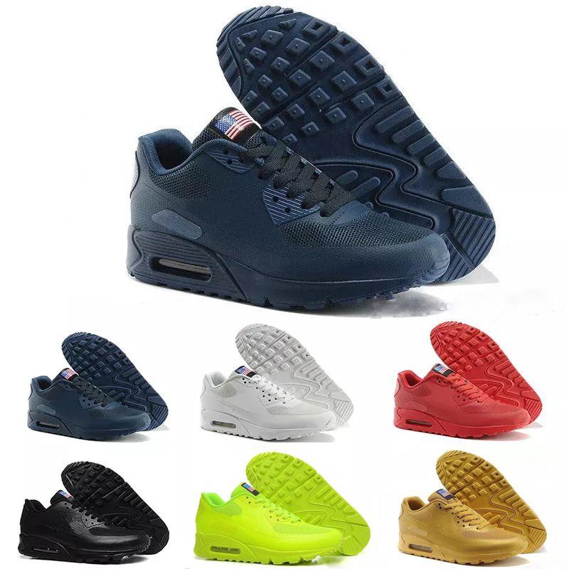 finest selection 4fdd8 1800a Compre Nike Air Max Airmax 90 HYP PRM QS Zapatillas De Deporte Nuevas 90  HYP QS PRM Para Hombre Zapatillas De Deporte Casuales Zapatillas es Tamaño  40 46 A ...