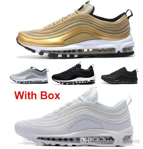 69c66c393e Wholesale 97 Silver Bullet Metallic OG 97 TRIPLE WHITE Triple Black 3M Women  Men Running Shoes with Box SILVER BULLET OG BASKETBALL SHOES Running Shoes  ...