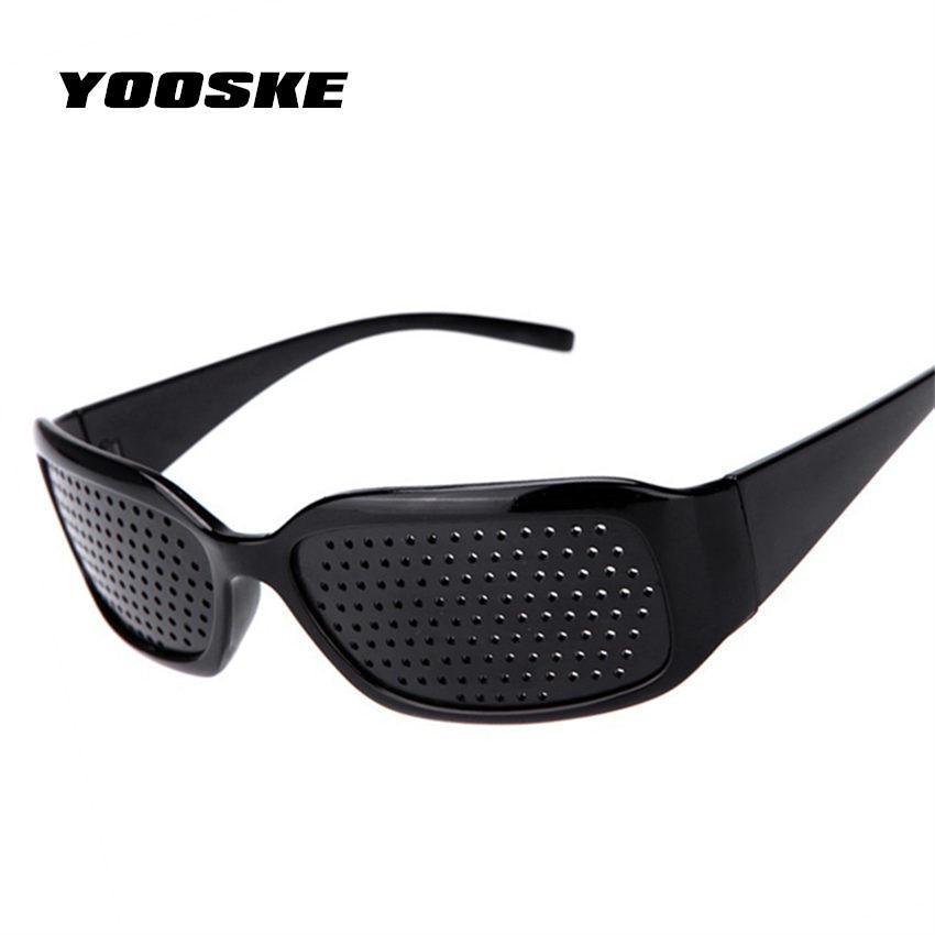 97d1c3cf4e677 2019 YOOSKE Black Pinhole Sunglasses Anti Fatigue Vision Care Pin Hole  Microporous Glasses Eye Exercise Eyesight Improve Anti Myopia From  G6241163
