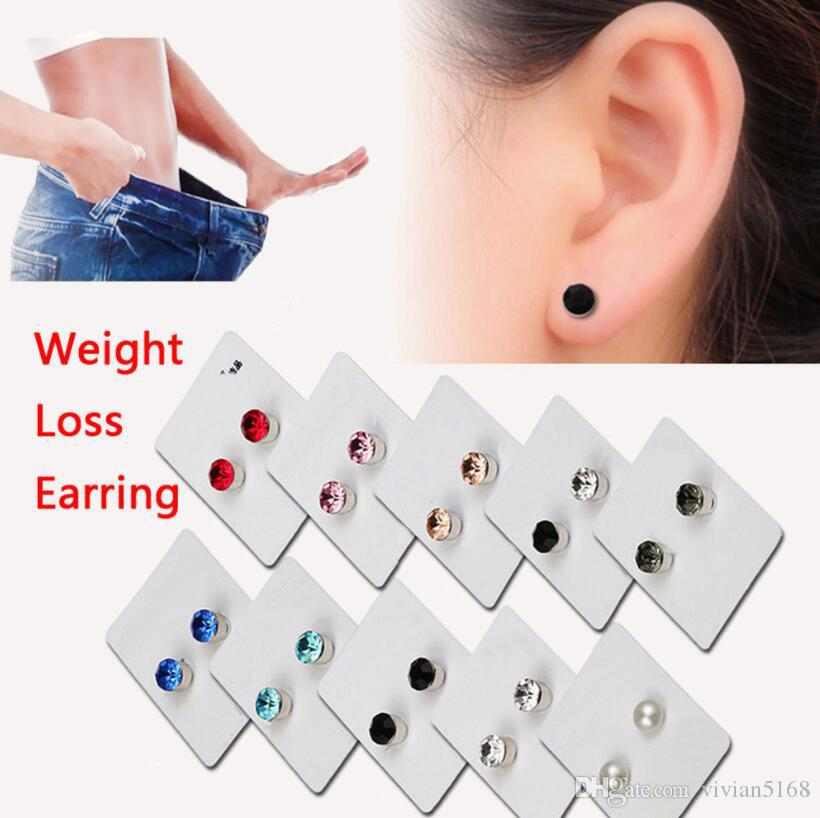 1Pair Silver Crystal Earrings Clip on Magnet Magnetic Ear Stus Women Girls Gifts