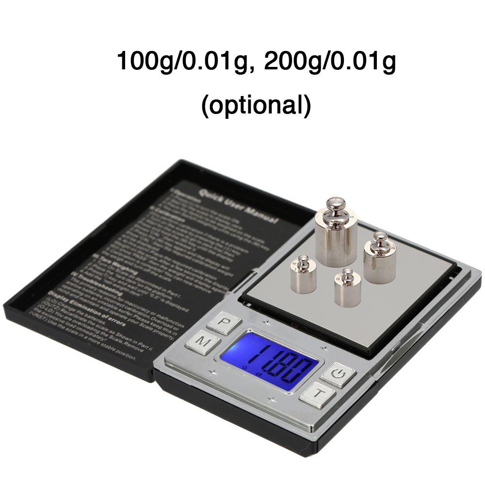 Mini balanzas digitales portátiles de precisión Pantalla digital electrónica precisa Tipo de póker Pocket Tea Gold Jewelry Scale