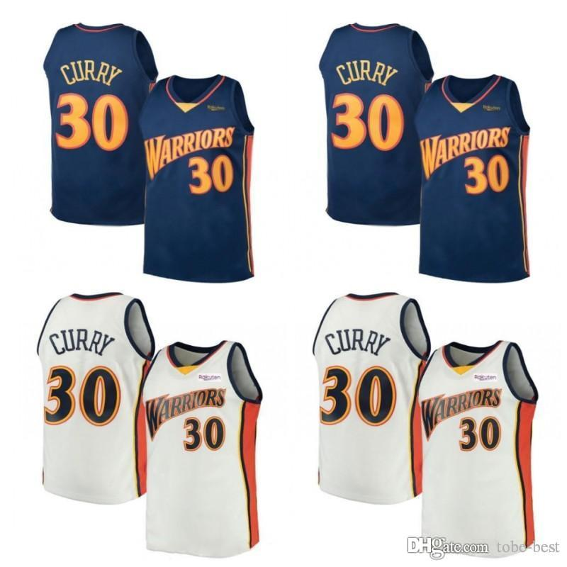 db50bd9c1312 2019 Retro White Stephen 30 Curry Warriors Jersey Kevin 35 Durant 11 Klay  Andre 9 Lguodala Draymond Golden Mens State Basketball Jerseys From Tobe  Best