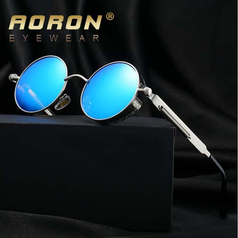 a9850adc79 Compre Nueva Othic Steampunk Hombres Gafas De Sol Polarizadas Revestimiento  Gafas De Sol Redondas Círculo Gafas De Sol Retro Vintage Gafas A $20.26 Del  ...